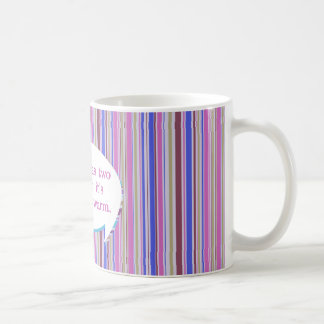 El café tiene dos virtudes taza de café