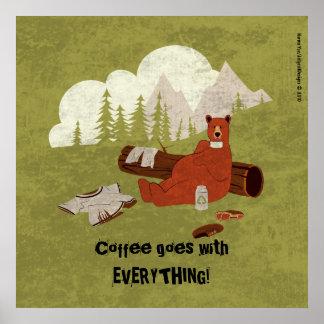 El café va con todo poster