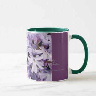El café y el té del Phlox de la lavanda asaltan Taza