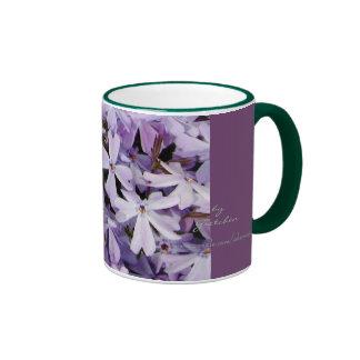 El café y el té del Phlox de la lavanda asaltan Taza De Dos Colores