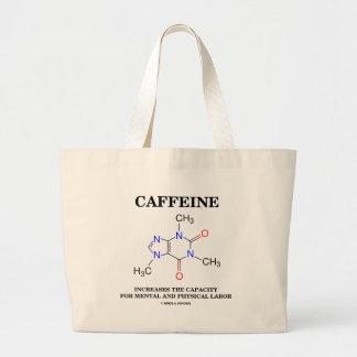 El cafeína aumenta el trabajo mental de la comprob bolsas lienzo