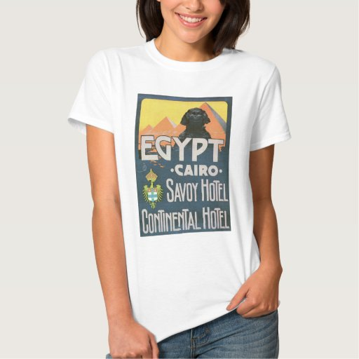 El Cairo Egipto - arte del poster del viaje del Camisas