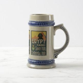 El Cairo Egipto - arte del poster del viaje del Jarra De Cerveza
