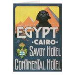 El Cairo Egipto - arte del poster del viaje del vi Tarjetas