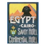 El Cairo Egipto - arte del poster del viaje del vi Postal