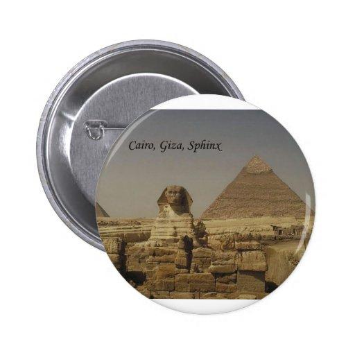 El Cairo, Giza, la esfinge (St.K.) Pin Redondo 5 Cm