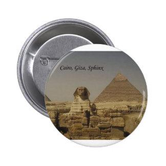 El Cairo, Giza, la esfinge (St.K.) Pin Redondo De 2 Pulgadas