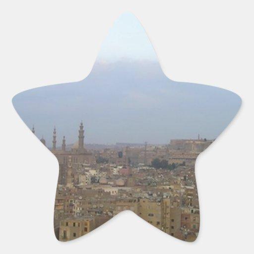 El Cairo Pegatina En Forma De Estrella