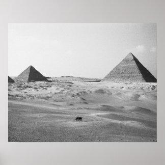 El Cairo pirámides de Egipto, Giza Póster