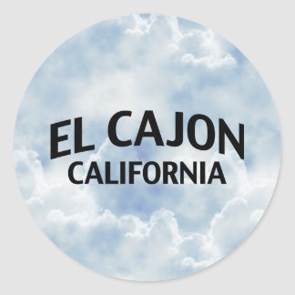 El Cajon California Classic Round Sticker