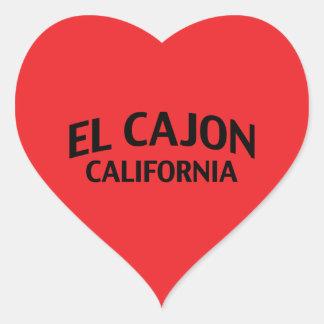El Cajon California Heart Sticker