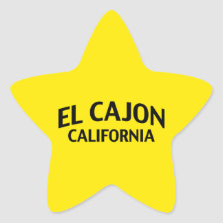 El Cajon California Star Sticker