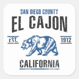 El Cajon Square Sticker