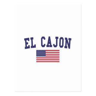 El Cajon US Flag Postcard