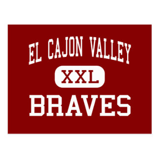 El Cajon Valley - Braves - High - El Cajon Postcard