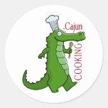 el cajun_cooking etiquetas redondas