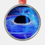 El calabozo azul de la NASA Adorno Navideño Redondo De Metal