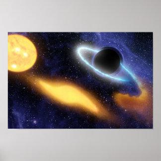 El calabozo de NASAs ase el bocado estrellado Póster