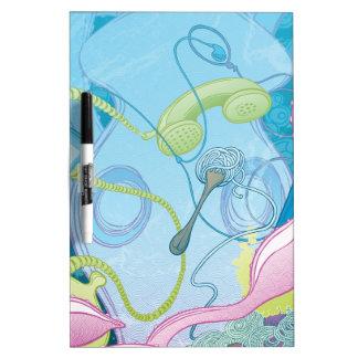 El calamar y los espaguetis tablero blanco
