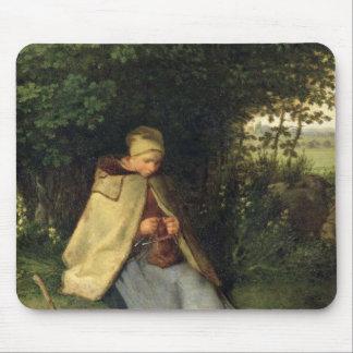 El calcetero o, el Shepherdess asentado, 1858-60 Alfombrilla De Ratón