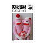 El calcetín de K&K Monkeys franqueo