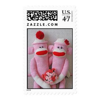El calcetín de K&K Monkeys franqueo Estampilla