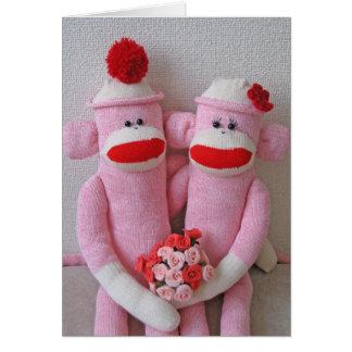 El calcetín de K&K Monkeys la tarjeta