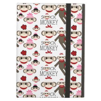 El calcetín rojo y rosado lindo Monkeys el modelo