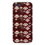 El calcetín rojo y rosado lindo Monkeys el modelo  iPhone 5 Cobertura