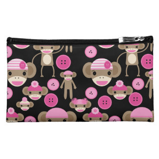 El calcetín rosado femenino lindo Monkeys a chicas