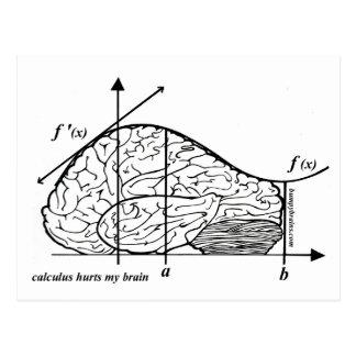 El cálculo daña mi cerebro tarjetas postales