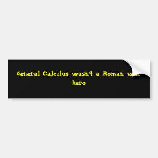 El cálculo general no era un héroe romano de la gu pegatina para auto