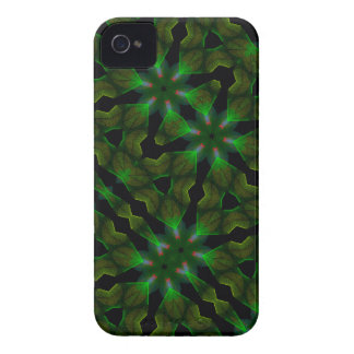 El caleidoscopio resuelve el tema verde III del Sp iPhone 4 Case-Mate Fundas