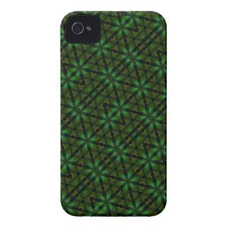 El caleidoscopio resuelve tema verde del Spirograp Case-Mate iPhone 4 Cárcasa