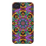 El caleidoscopio tropical, fractal abstracto Case-Mate iPhone 4 fundas