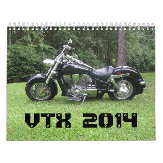 El calendario #1 de Honda VTX 2014