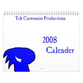 El calendario 2008 de las producciones del