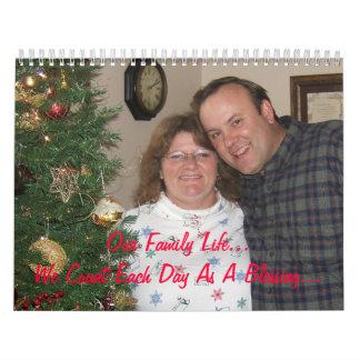 El calendario 2009 de la familia de Lewis