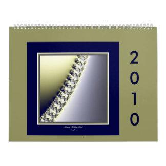 El calendario 2010 del fractal del borde