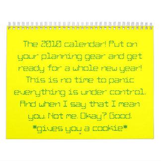 ¡El calendario 2010! Ponga su engranaje del
