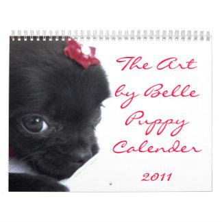 El calendario 2011 del perrito de la belleza de