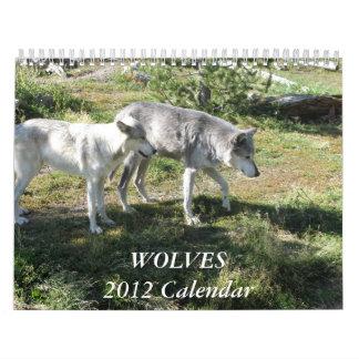 El calendario 2012 del lobo