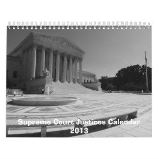 El calendario 2013 de los jueces del Tribunal