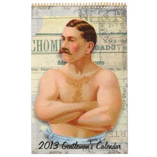 El calendario 2013 del caballero del Victorian del