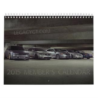 el calendario 2015 del miembro de LegacyGT.com