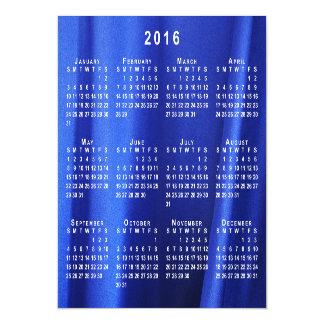 El calendario abstracto de seda azul de la foto invitaciones magnéticas