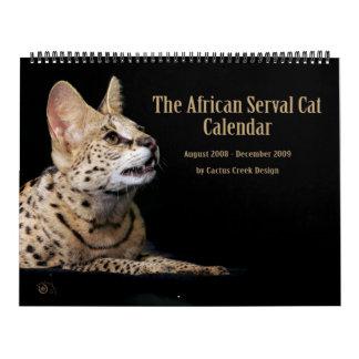 El calendario africano del gato del Serval