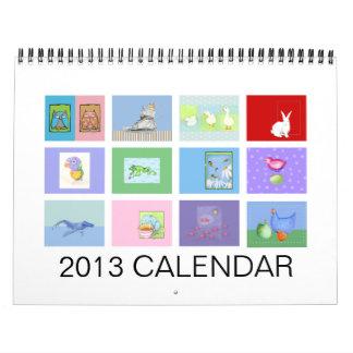 El calendario animal de 2013 niños