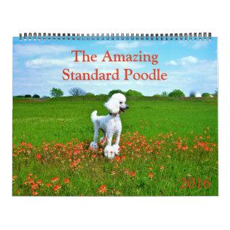 El calendario asombroso del caniche estándar 2016