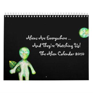 ¡El calendario de 2010 extranjeros!